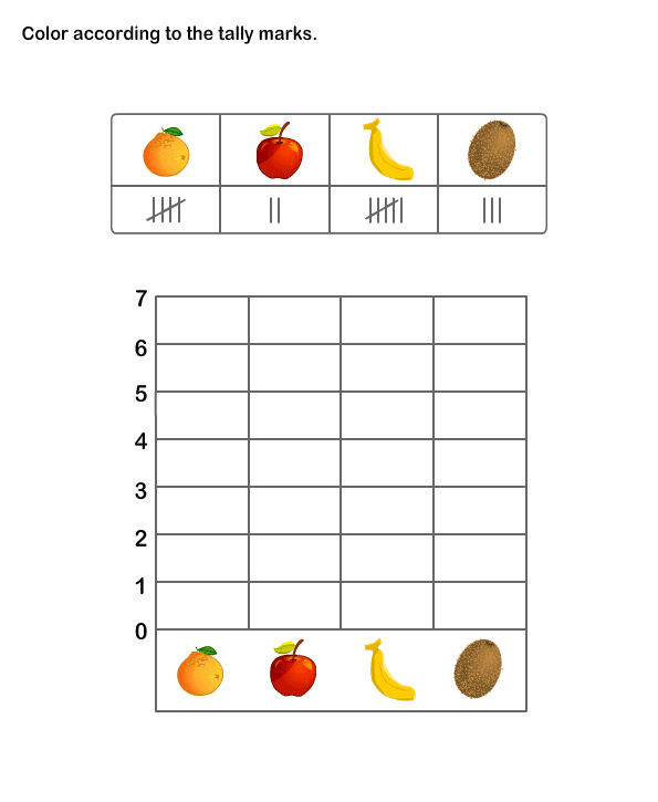 {Printable Math Practice Sheet for Kids – Tally Chart Worksheets