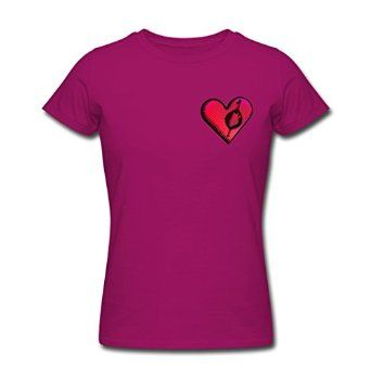 KINGShirts Personalize Women's Warmth heart in heart T-Shirts Raspberry