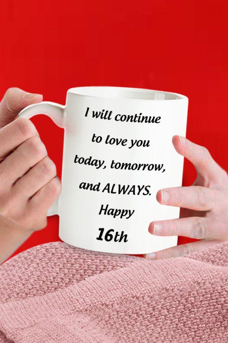 16th wedding anniversary coffee mug 16th romantic
