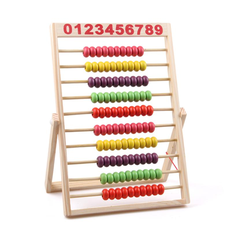 10-Row Wooden Abacus Beads Educational Toy | Math toys ...