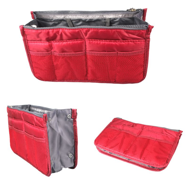 Multifunction Zipper Thicken Storage Bag Case Holder Portable Wash Bag Travel Bag In Bag Cosmetic Organizer For Women