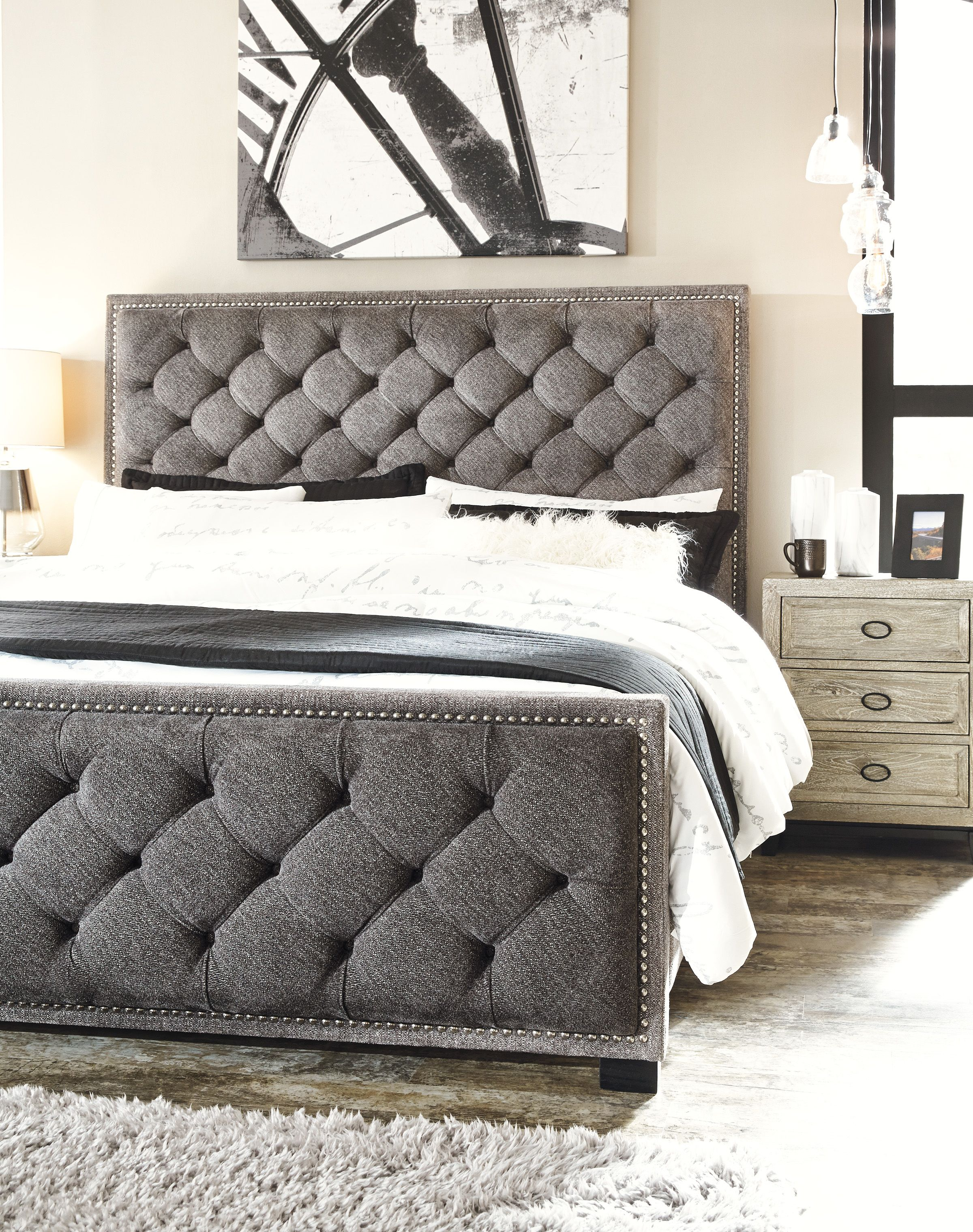 Halamay 3 piece queen upholstered bed