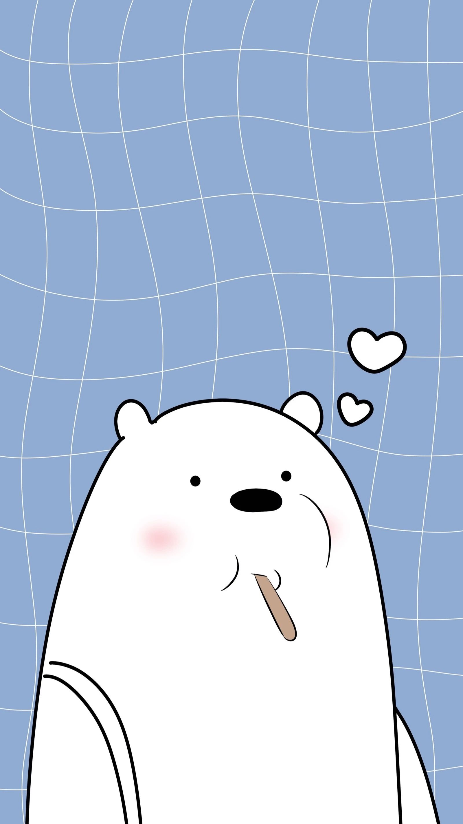 Pin Di White Bear