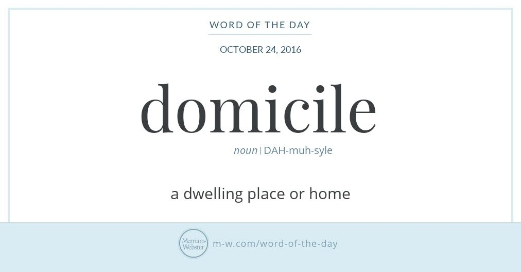 Nice Domicile Traces To Latin Domus, Meaning U0027home,u0027 And English Speakers Have  Been Using It As A Word For U0027homeu0027 Since At Least The 15th Century.