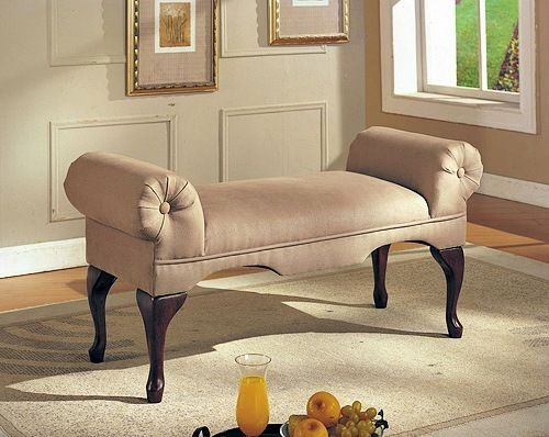 Rolled Arm Bench Furniture Seat Lounge Sofa Upholstered