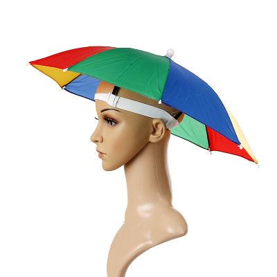 Umbrella Hat Sunshade Fishing Hiking Festival Outdoor Brolly Camping British England Watermelon Rainbow Coconut Tree Umbrella Fishing Umbrella Rainbow Umbrella