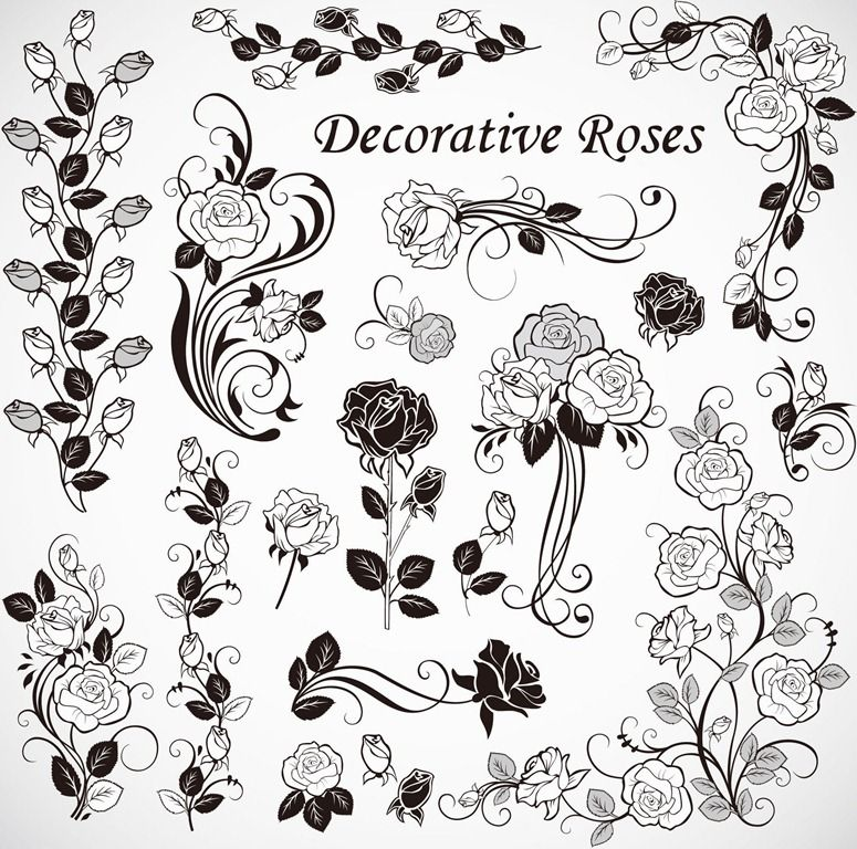 Free Vector Roses Decoration Free Vector Graphics All
