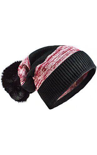 cec30a3f1e0 Versace 19.69 Faux Fur Trim Stripe 2-in-1 Cuff Hat - Black   Red