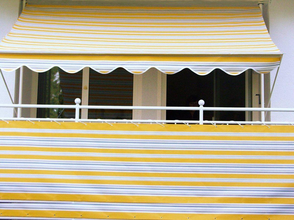 Angerer Freizeitmobel Balkonsichtschutz Meterware Gelb Grau H