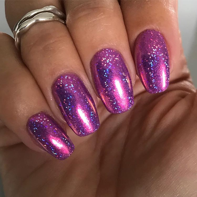 Obsessing Over These Magpie Gel Colour Bobby Dazzler Base With Magpie Glitter Livvi And A Chrome Top Of Magpie Dust Pandora To Fi Gel Color Glitter Gel