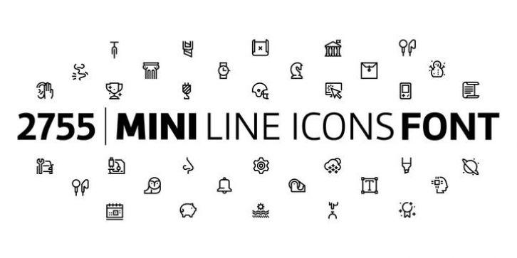 Download Miniline Icons font download | Icon font, New fonts, Font shop