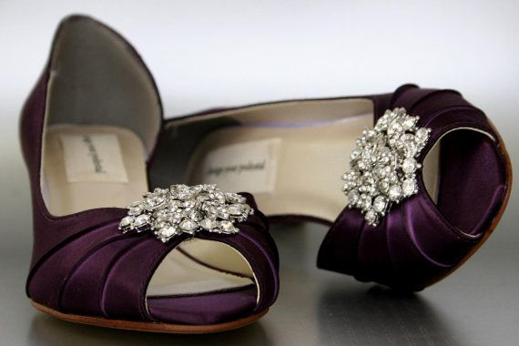 Wedding Shoes Plum Peeptoe By DesignYourPedestal 15800