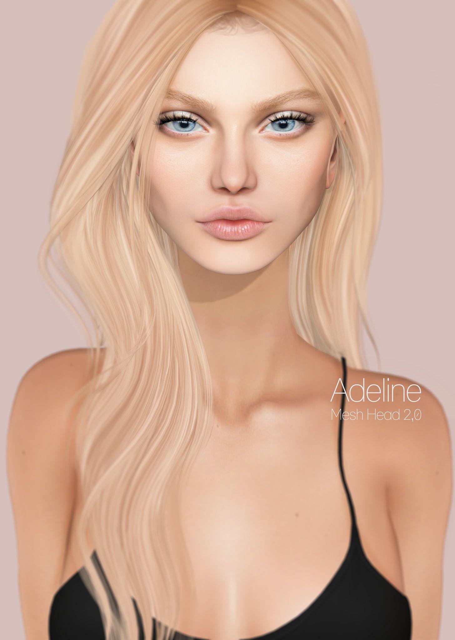Adeline mesh head @COLLABOR88 | Beautiful Avatars | Second life
