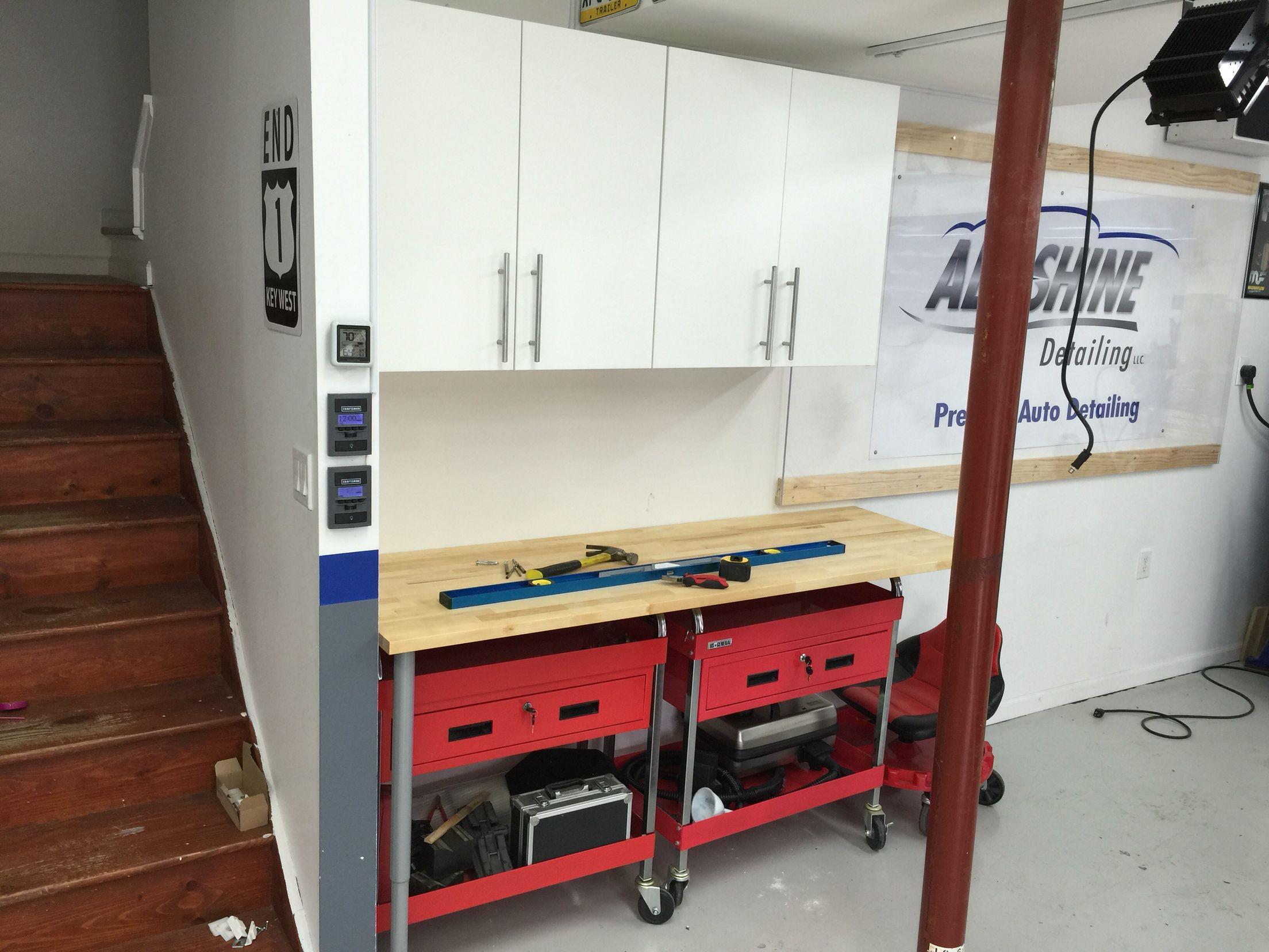 Adding some additional IKEA cabinets to the garage!   Ikea cabinets, Ikea, Home decor
