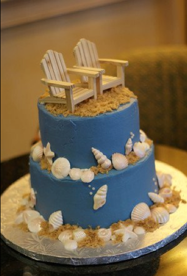 Cake I Made For My Husbands 30th Birthday Party Beach Seashells
