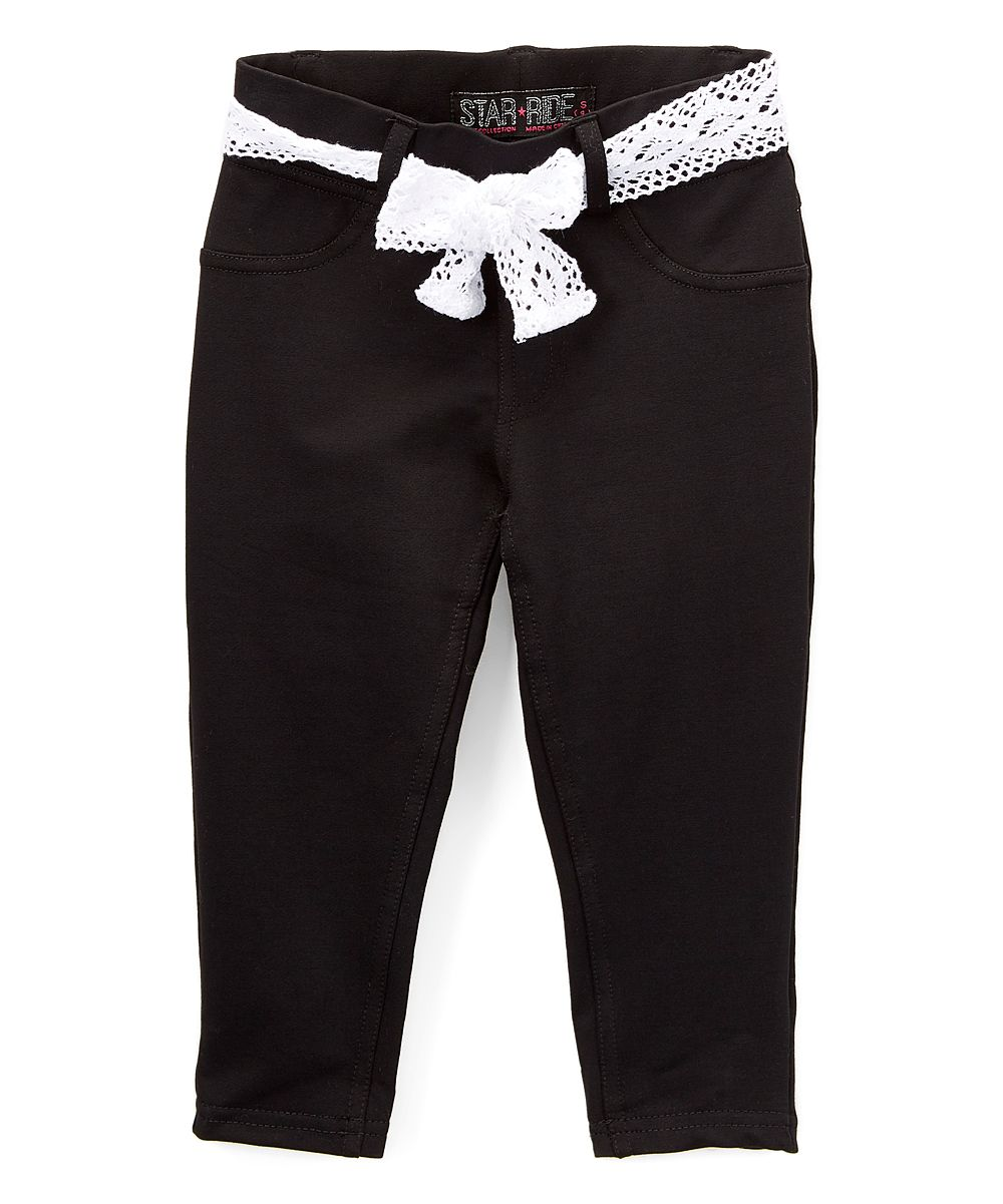 Black Capri Pants & Sash Belt - Girls | Sash belts, Capri pants ...