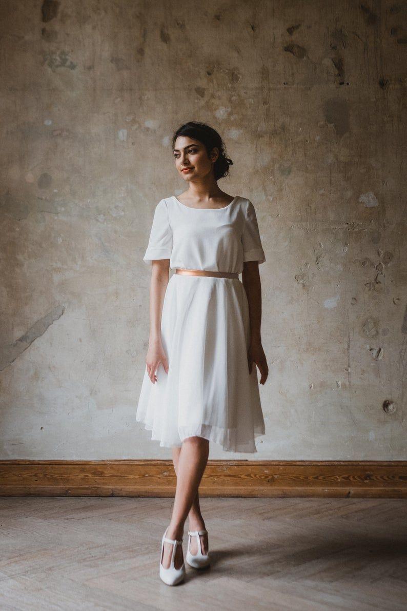"""Brautkleid """"Copper"""" kurz und locker in 14  Short bridal dress"""