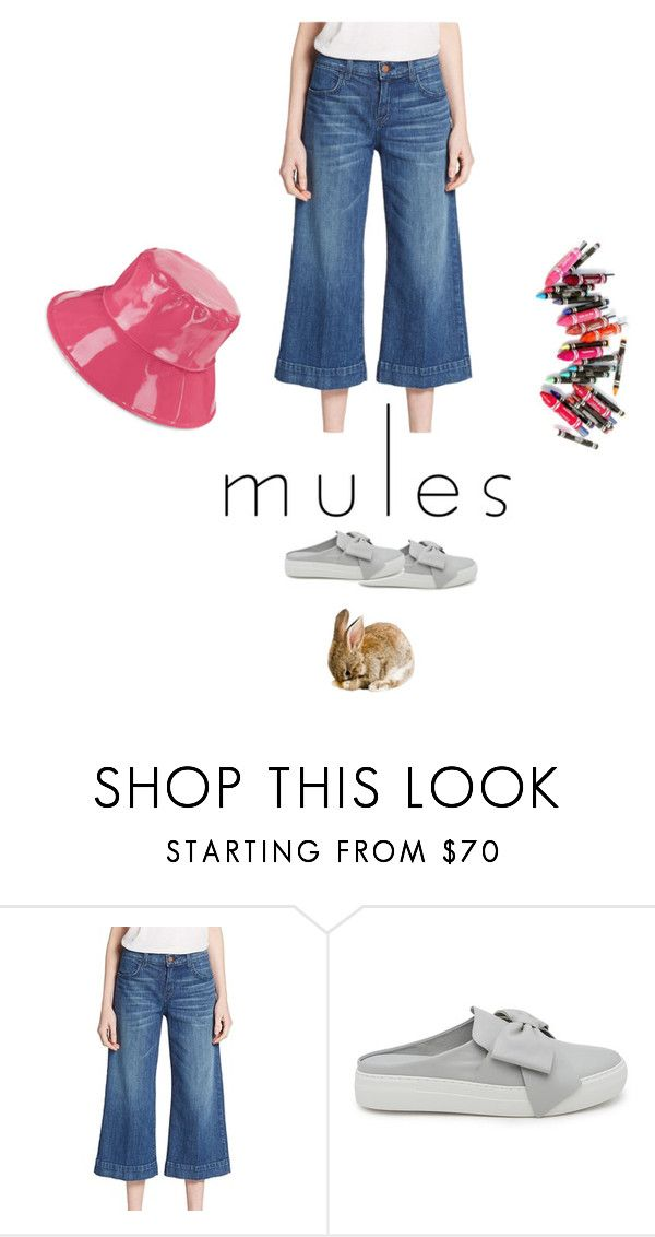 """""""Mules Slippers"""" by zazaofcanada ❤ liked on Polyvore featuring J Brand, J/Slides, Clinique, August Hat, Heels, shoes, mules, clogs and sale"""