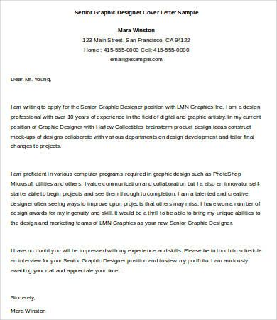 Graphic Designer Cover Letter Template Free Word Documents