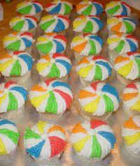 Beach Ball Cupcakes With Images Beach Theme Birthday Beach