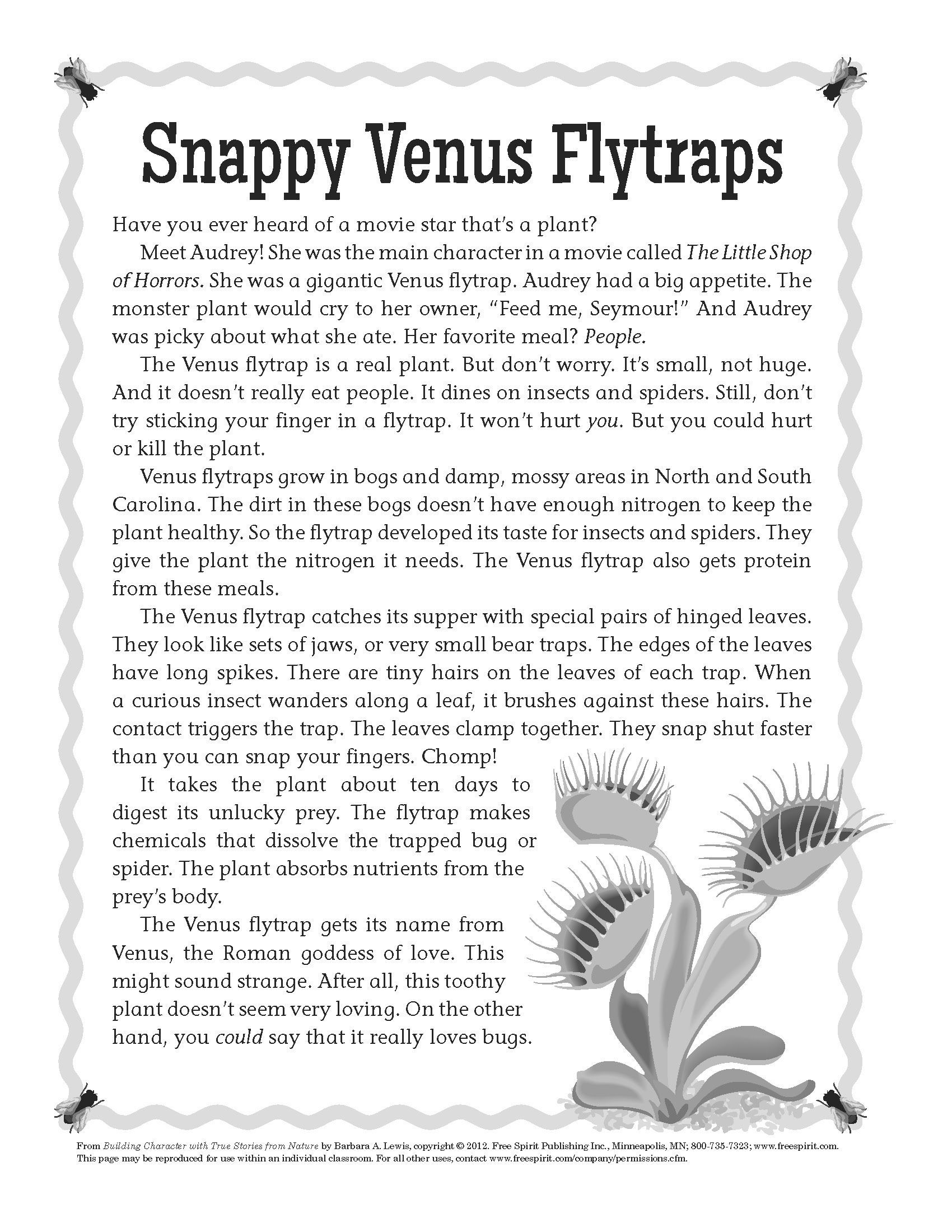 The All About The Venus Flytrap In A Free Download From
