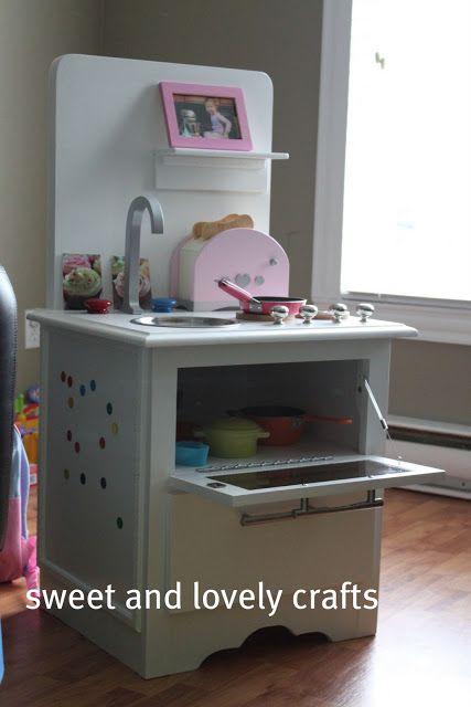 Nightstand Kids Kitchen Diy Diy Play Kitchen Play Kitchen Kids
