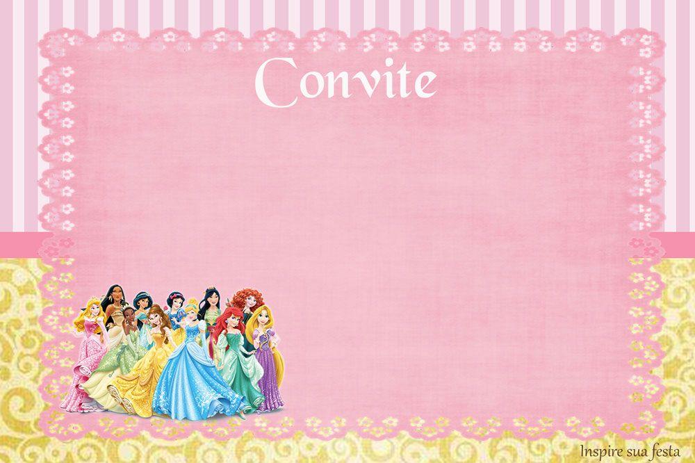 Princesas Disney Kit Festa Infantil Gratis Para Imprimir Convite