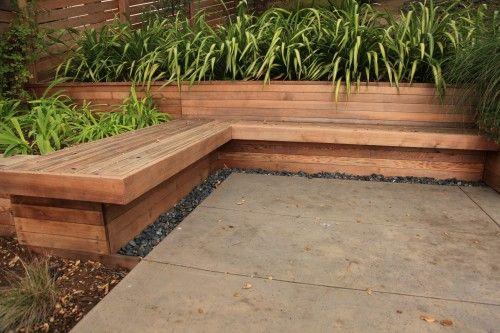 Planter Bench Patio Deck Re Do Garden Planter Boxes Planter Bench Backyard Garden Design
