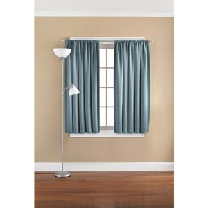 Mainstays Solid Room Darkening Curtain Panel Dark Brown