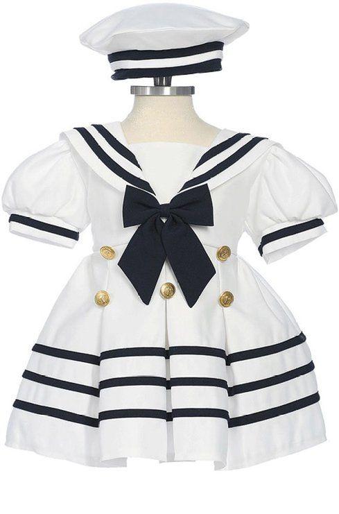 7ed168eda8e8 Amazon.com  Fougerkids Little Girls  Formal Sailor Party Dress  Clothing