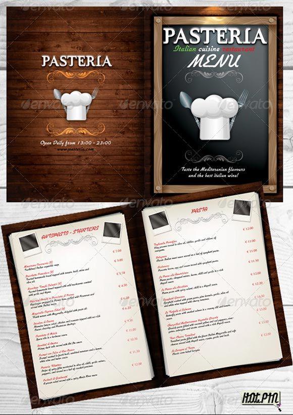 40 Beautiful Restaurant Menu Templates and Designs - Design - free food menu template
