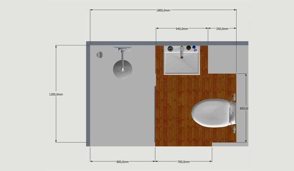 Sch ma plan et dimensions de la salle de bain hotel star for Dimension salle de bain