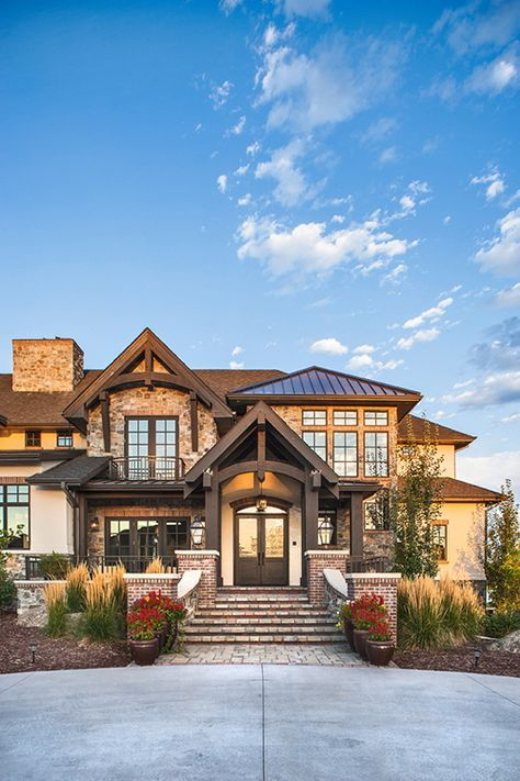 16 Wicked Transitional Exterior Designs Of Homes You Ll Love: Plan 95038RW: Three Level Craftsman Beauty