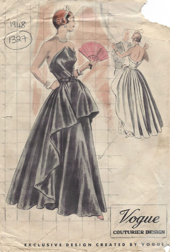 Details zu 1960s Jahre Vintage vogue-schnittmuster B38 \