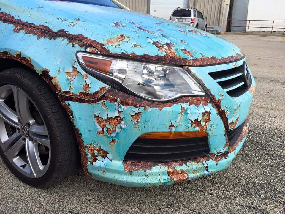 Volkswagen rusty wrap | Custom Wrap Design | Custom cars ...