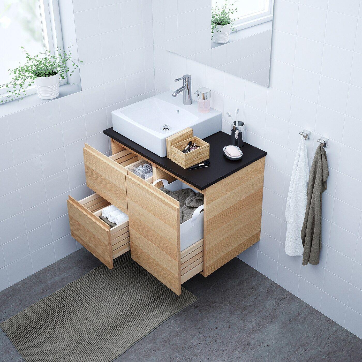 Godmorgon Tolken Tornviken Waschbschr Waschb 45x45 In 2020 Ikea Godmorgon Waschtisch Holz Weiss Mischbatterien