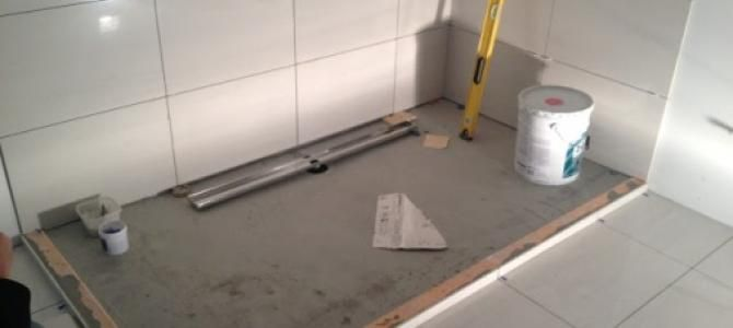 COM ( Linear Shower Drains And Barrier Free Bathrooms ): Using A Kerdi Drain  With Your Linear Drain Shower Build