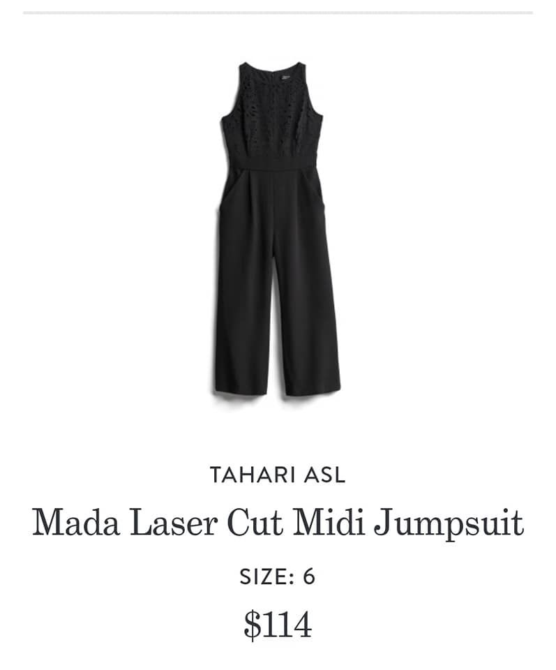434c30218519 Tahari ASL Mada Laser Cut Midi Jumpsuit