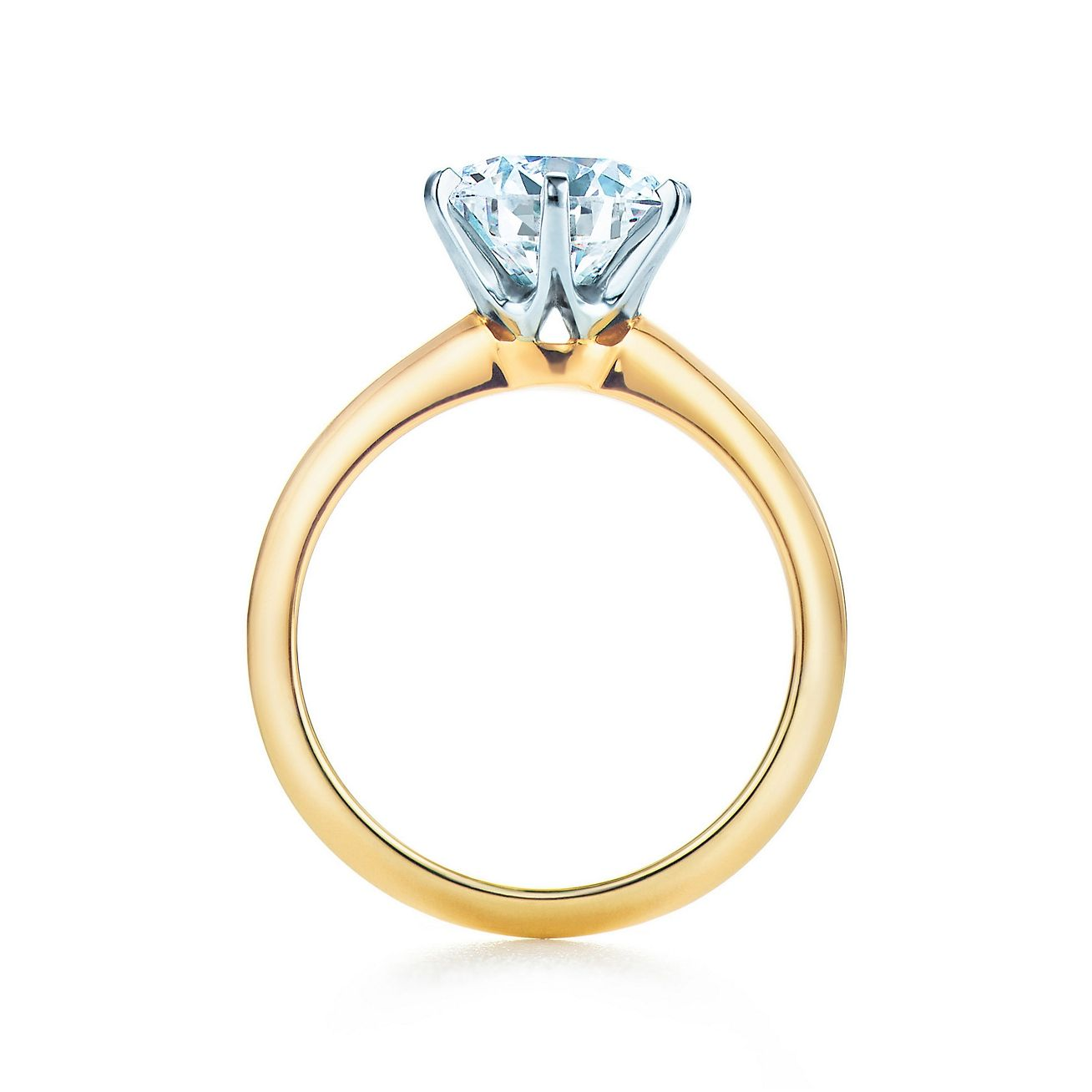 The Tiffany® Setting 18K Yellow Gold | Tiffany and Engagements