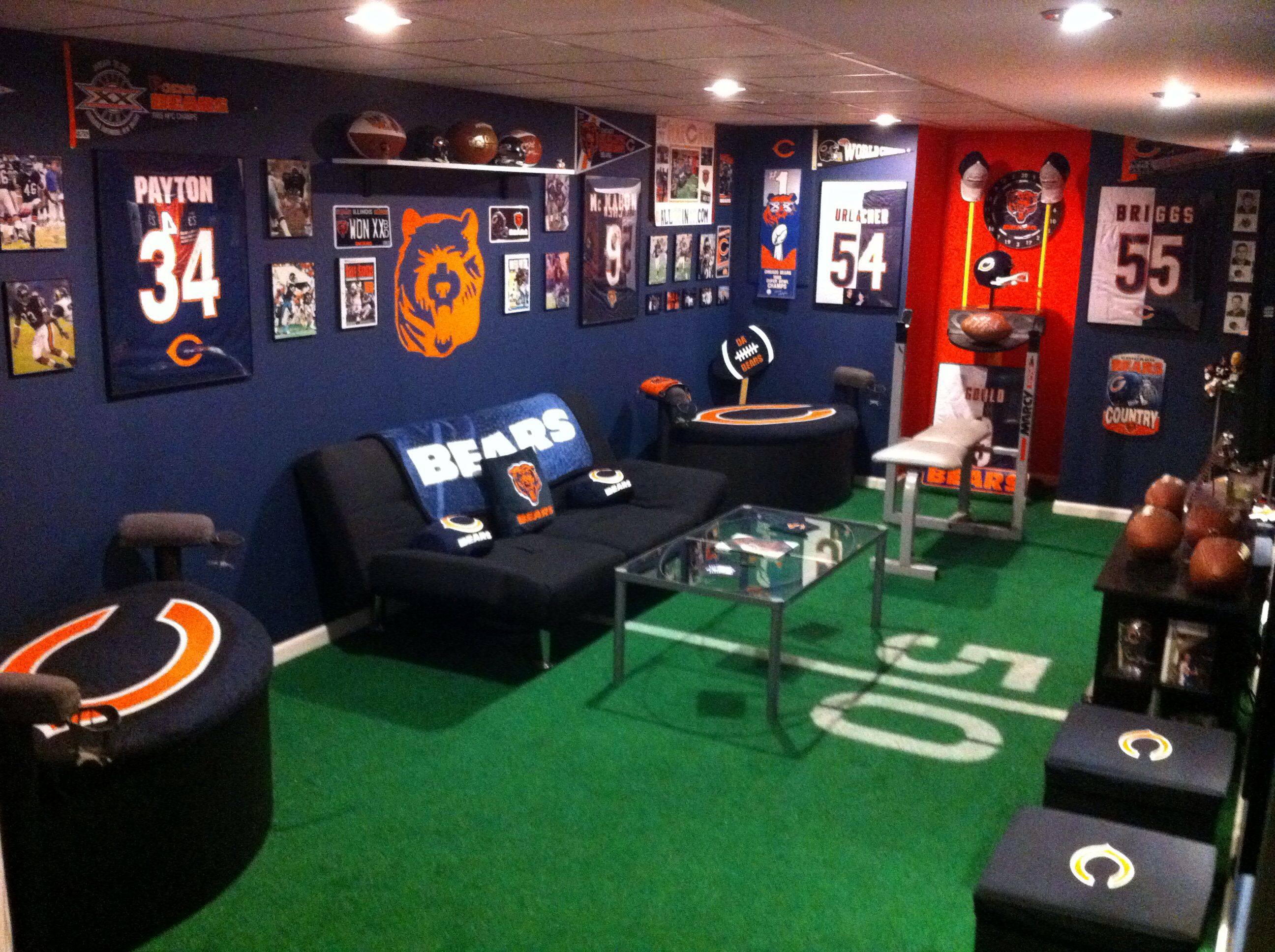 Chicago bears bathroom accessories - Chicago Bears Man Cave