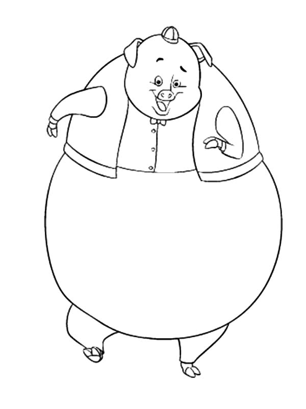 Chicken Little Friend Runt of the Litter Coloring Pages