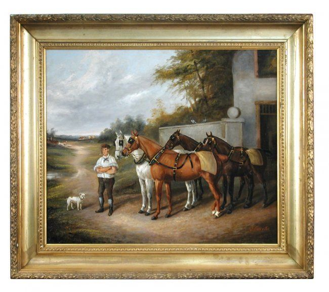 Lot:J Clark and Son (British, 19th Century) A horseman with, Lot Number:506…