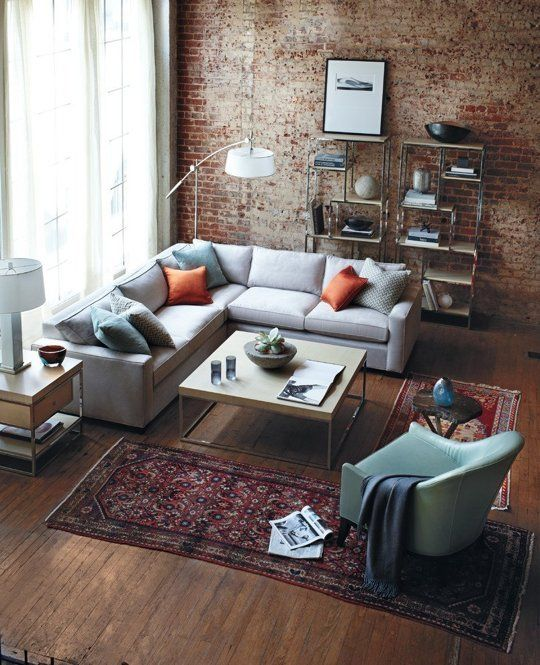 Ways To Use Two Small Rugs Instead Of One Big One Small Apartment Design Apartment Living Room Apartment Design