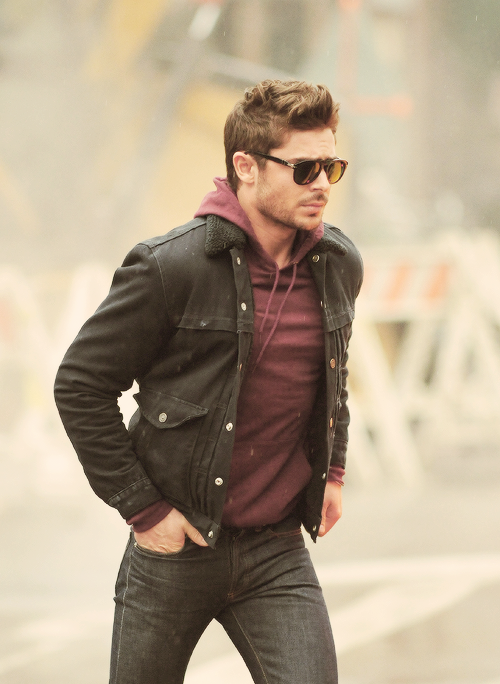 something about a simple hoodie. and a leather jacket. and glasses. just  him really 5d2bd965a