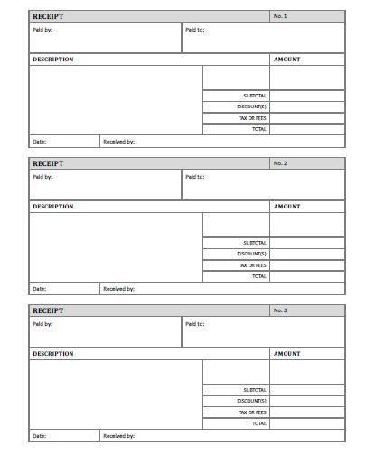 Free Home Printable Templates - Bing Images PRINTABLES - free printable receipts