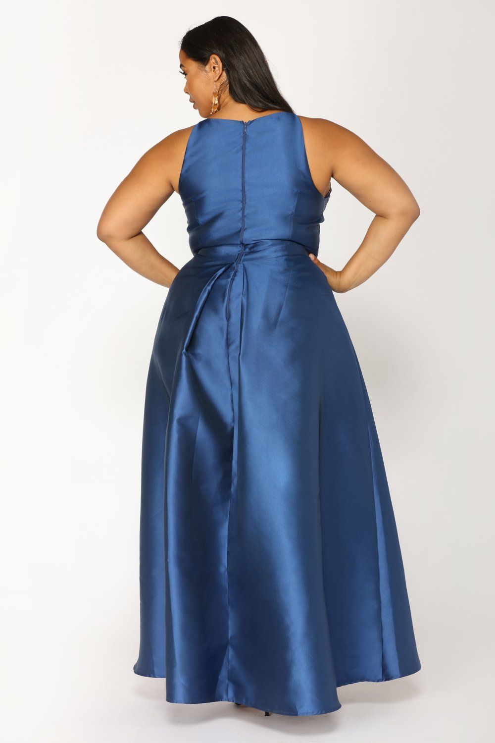 ba39f2cd7e8 Heartedly High Low Dress - Navy plus-size