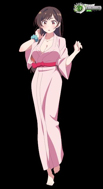 Kanojo Okarishimasu Mizuhara Chizuru Hyper Kawaii Pink Yukata Hd Vector In 2021 Cute Anime Character Kawaii Anime