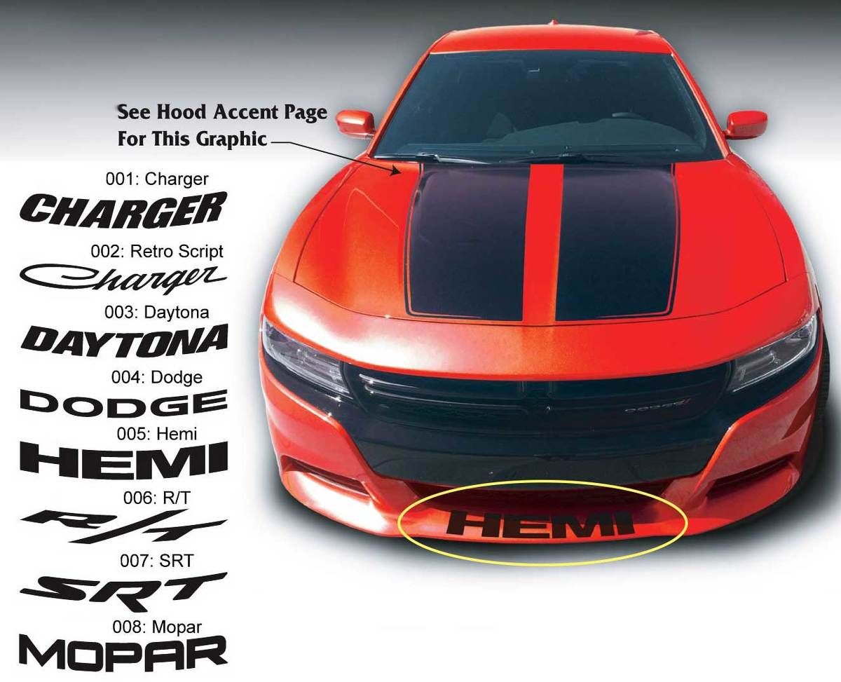 Product dodge charger r t mopar daytona srt super bee front spoiler decal sticker graphics fits to models 15 16