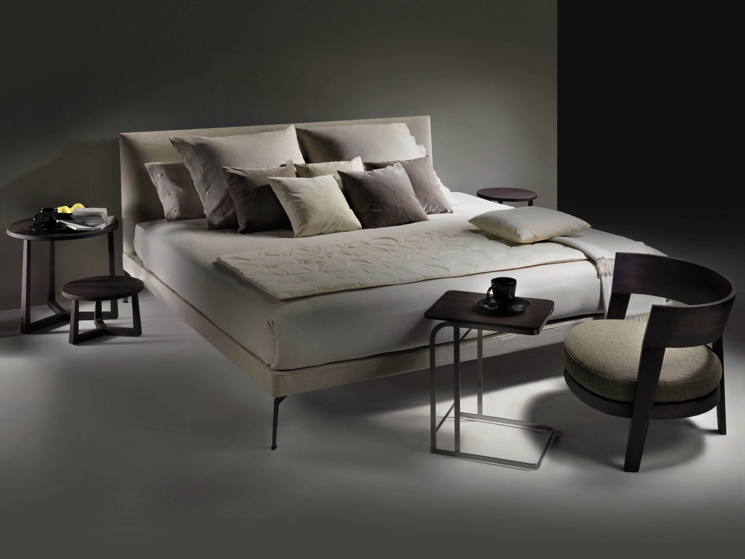 Cama doble de tela con cabecera tapizada FEEL GOOD TEN by FLEXFORM ...