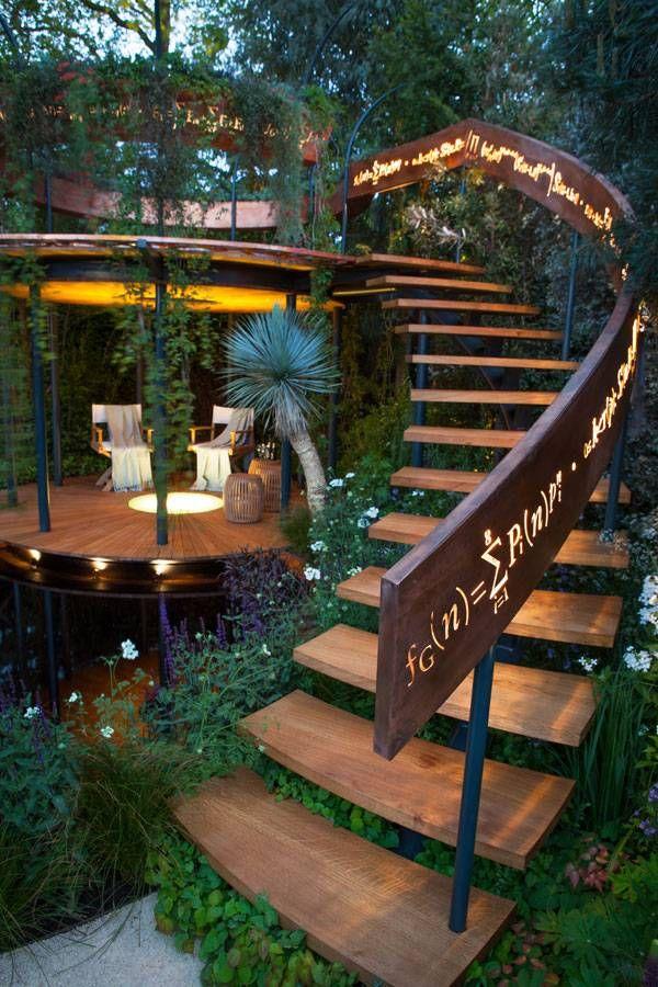 Log Railing | Garden landscape design, Landscape design ...
